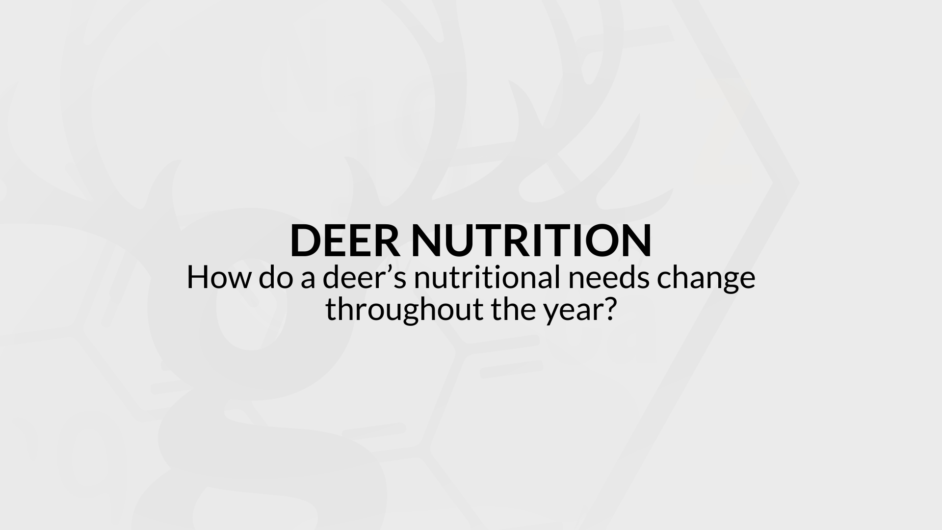 How do a deer's nutritional needs change throughout the year?